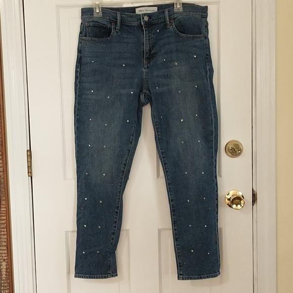 Gap Jeans 31 Best Girlfriend Silver Studs 34 x 36